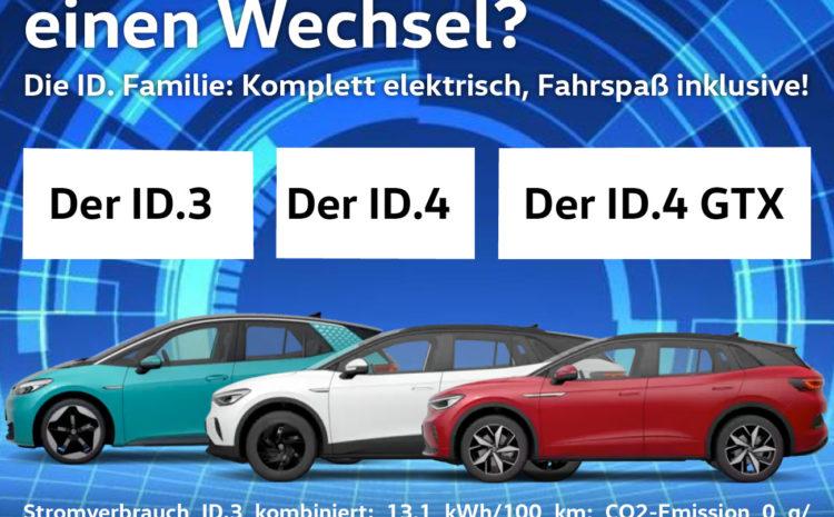Die ID-Familie: komplett elektrisch, Fahrspaß inklusive!